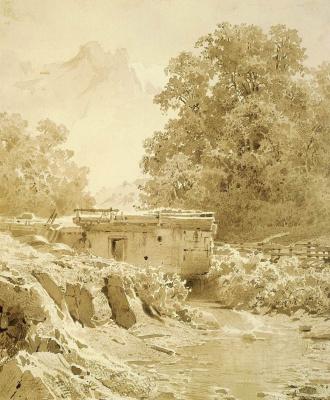 Fedor Alexandrovich Vasilyev. Watermill on the mountain stream. Crimea
