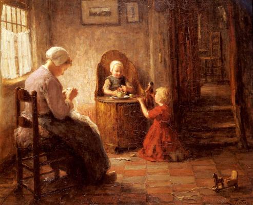Эверт Питерс. Мать и дети