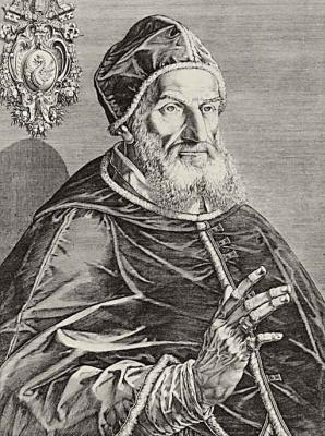 Антон Айзенхойт. Портрет папы Григория XIII