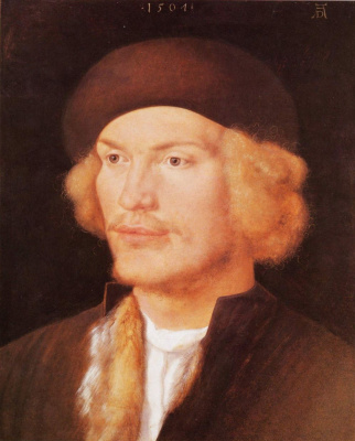 Albrecht Durer. Portrait of a young man