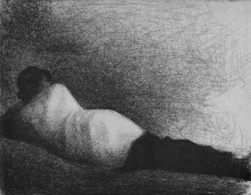Georges Seurat. Lying man