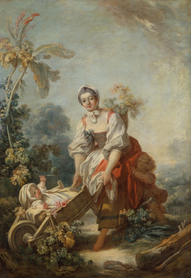Jean-Honore Fragonard. The joy of motherhood