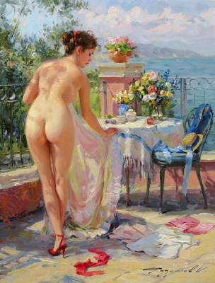 Constantine Razumov. On the terrace.