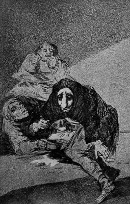 Francisco Goya. Series Los Caprichos, sheet 54: Bashful