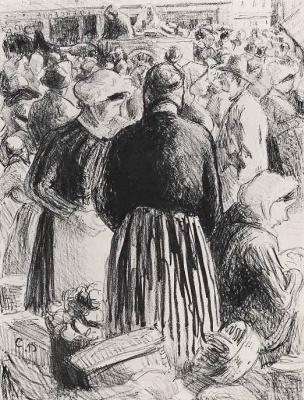 Camille Pissarro. Market at PONTOISE