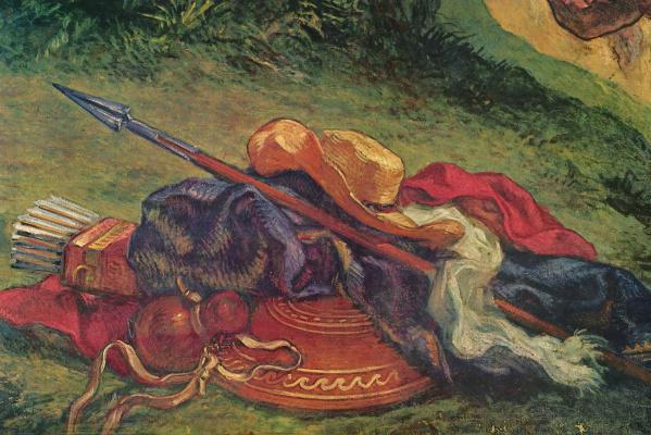 Эжен Делакруа. Борьба Иакова с ангелом. Роспись капеллы св. Ангела. Деталь