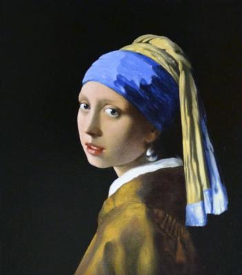 Давид Эпштэйн. Девушка с жемчужной серёжкой (копия)