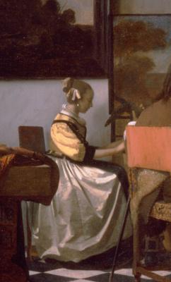 Jan Vermeer. Concert. Fragment