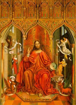 Бласс Гальего. Иисус на троне