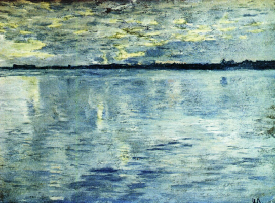 Isaac Levitan. The lake. The evening