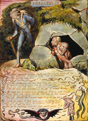 "William Blake. Hidden killer. Illustration for the poem ""Europe: a prophecy"""