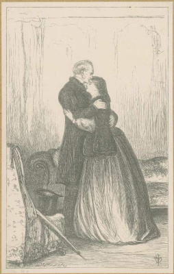 John Everett Millais. The great love of sir peregrine. Illustration for the works of Anthony Trollope