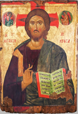 Christ the Pantocrator. Two-sided icon. Front side