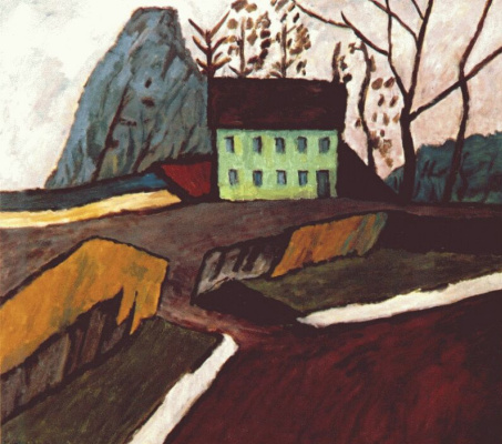 Gabriele Münter. Green house in Schwabing