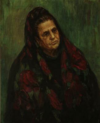 Тимур Мигунов. Портрет старушки
