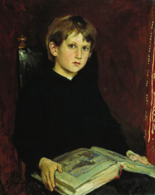 Victor Mikhailovich Vasnetsov. Portrait of M. V. Vasnetsov, the artist's son, in childhood