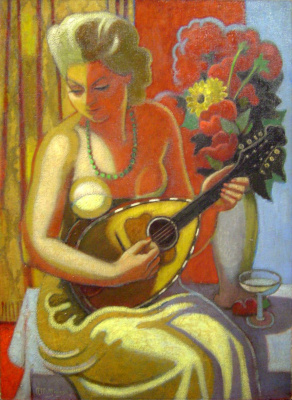 Jean Metzinger. Young woman with mandolin