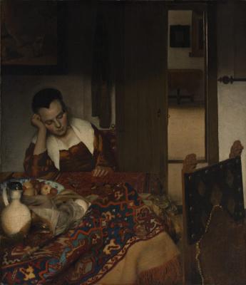 Jan Vermeer. Sleeping girl
