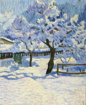 Giovanni Giacometti. In the garden in winter