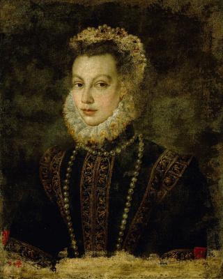 Sofonisba Angisola. Portrait of Isabella Valois