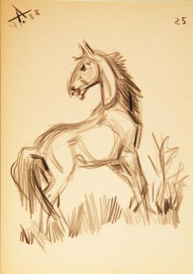Александр Сергеевич Линдеберг. Конь