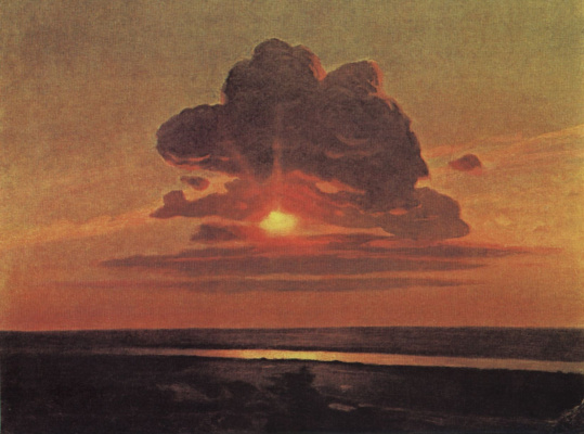 Arkhip Ivanovich Kuindzhi. The red sunset. Sketch