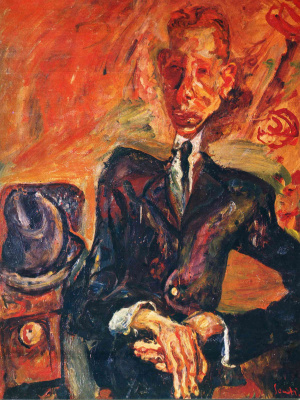 Haim Solomonovich Soutine. Portrait of a man with felt hat
