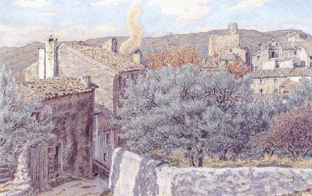 Анри (Henri) Ривьер (Rivière). Декабрь - Ньон (Décembre - Nyons)