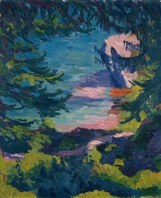 Джованни Джакометти. Вид озера Зильс на пути из Малойи в Изолу