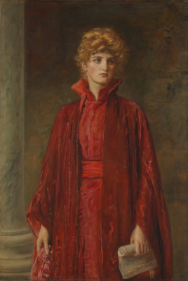 """John Everett Millais. Kate Dolan in the image Portions of the play """"the merchant of Venice"""""""