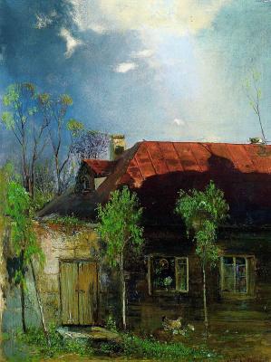 Alexey The Kondratyevich Savrasov. House in the province. Spring