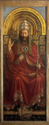 Губерт ван Эйк. Гентский алтарь. Бог-Отец (фрагмент)