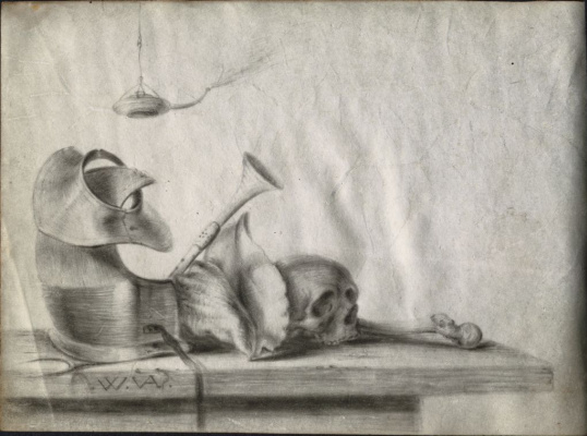 Willem van Aelst. Still life with armor