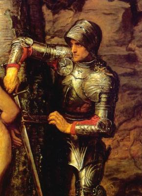 Джон Эверетт Милле. Странствующий рыцарь. Фрагмент