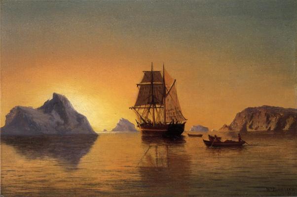Уильям Брэдфорд. Закат солнца
