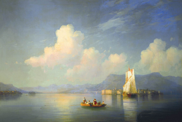 Ivan Aivazovsky. The Italian landscape. The evening