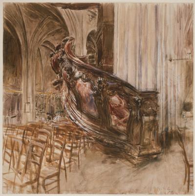 Джованни Больдини. Кафедра проповедника собора святого-André в Бордо. 1907  мел