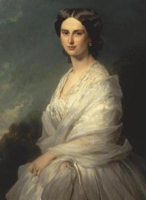 Franz Xaver Winterhalter. Portrait of Countess Sophia Andreevna the Bobrinskaya. Fragment