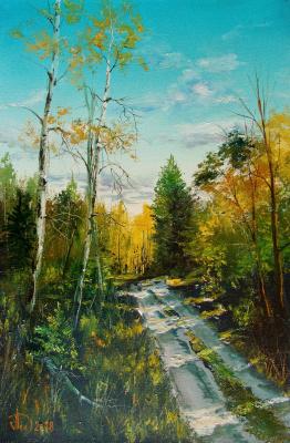 Alexander Alekseevich Lednev. Forest Road