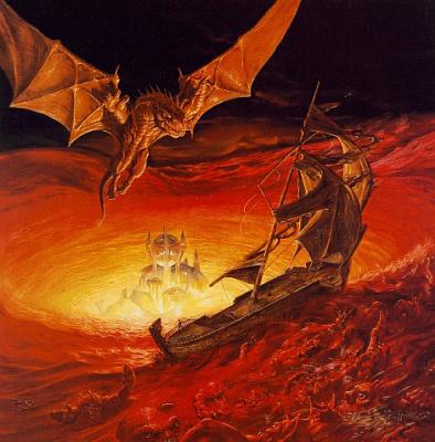 Boris Vallejo (Valeggio). Dragons Of Venus