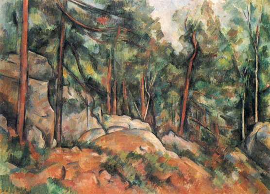 Paul Cezanne. In the woods