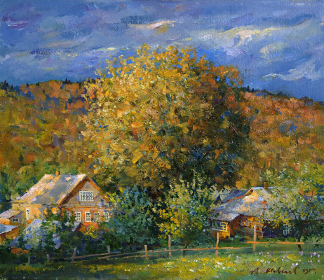 Alexander Victorovich Shevelyov. Evening. oil on cardboard 35 # 40,5 cm 2003