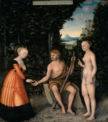 Lucas Cranach the Elder. Hercules at the crossroads