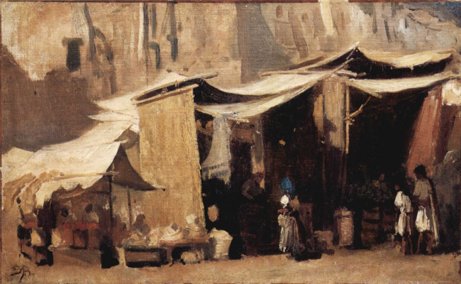 Франк Букснер. Уличная сцена в Алжире