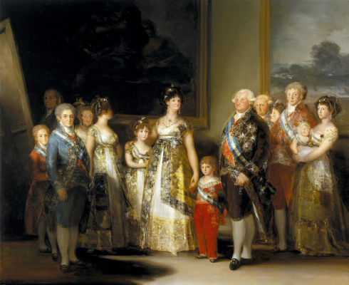 Francisco Goya. The king of Spain Charles IV and his family