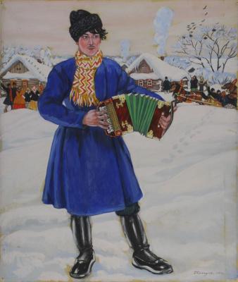 Борис Михайлович Кустодиев. Деревенская масленица