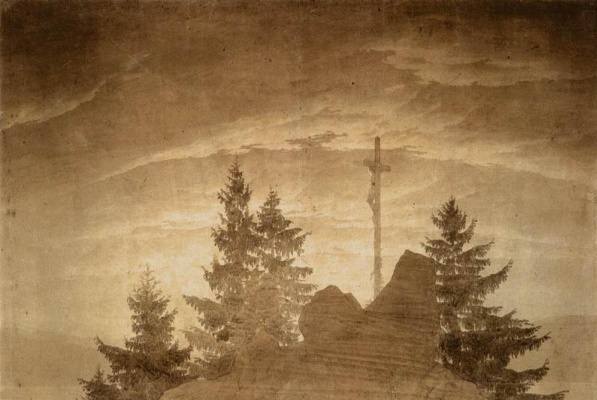 Caspar David Friedrich. Cross in the mountains