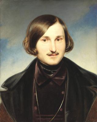 Fedor Antonovich Moller. A portrait of the writer Nikolai Gogol