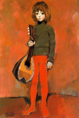Рикардо Макаррон. Ребенок в зеленом свитере