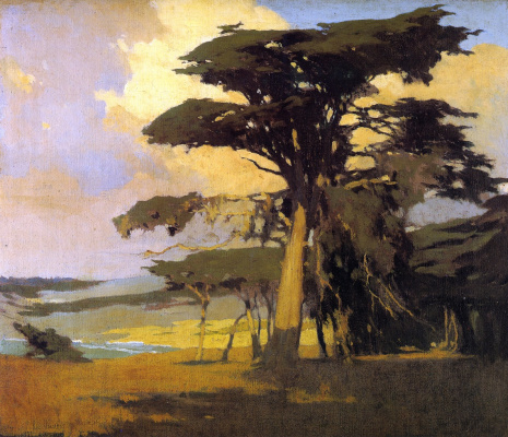 Arthur Frank Matthews. Afternoon among the cypress
